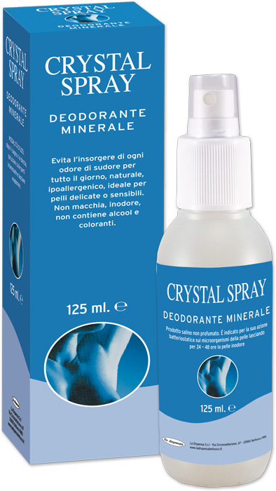 Deodorante Naturale Allume Spray 125ml Puro 100%