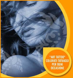 Tatuaggi Termporanei, Art tattoo - Applicatore colore+Mascherine